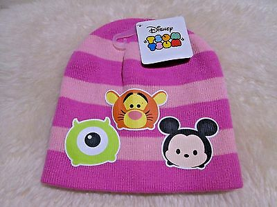 New with Tag - Disney's Tsum Tsum Knit Hat (Pink)  one size  for Girls