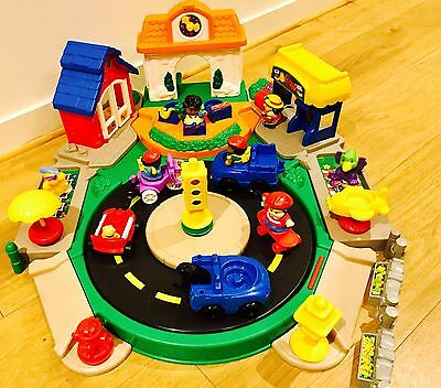 Kids Toy Little people fisher price Discovery Village Town Market Sets + extras