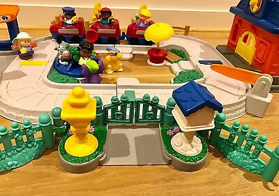 Kids Toy Little people Fisher Price Fun Sounds Train Station Sets + extras
