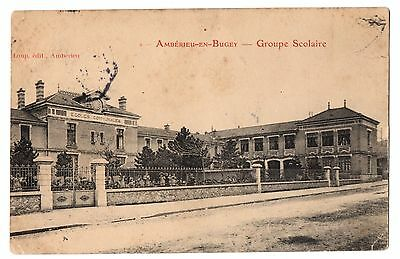 CPA 01 - AMBERIEU EN BUGEY (Ain) - Groupe Scolaire