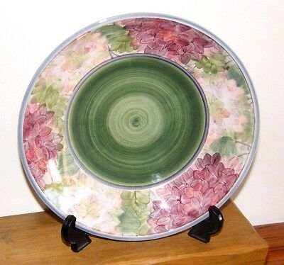 Jersey Pottery Hand Painted Floral Decorated Fruit Bowl