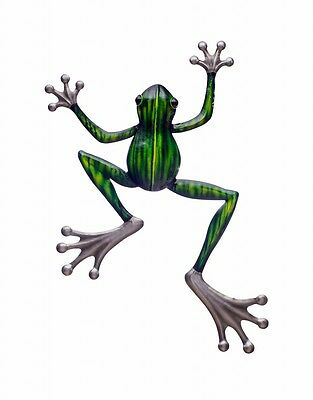Frog Tree Green Metal Hanging Wall Art Sculpture Outdoor Garden Décor *49 cm*
