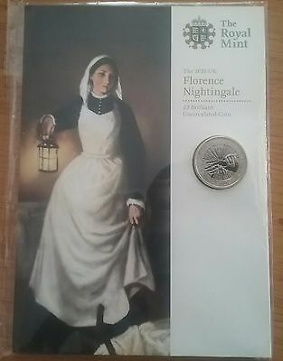 2010 Royal Mint Florence Nightingale 100th Anniversary £2 Two Pound Coin Sealed