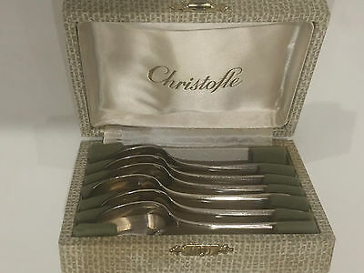 Antique vintage Christofle coffee tea 6 silver-plated spoons