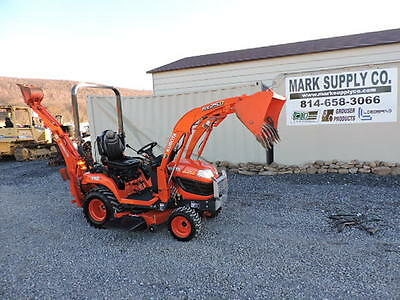 2014 Kubota BX25D 4X4 TLB Compact Tractor Loader Backhoe Belly Mower 3 Point !!