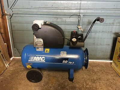 Abac 50 litre air compressor 3HP 11CFM hardly used