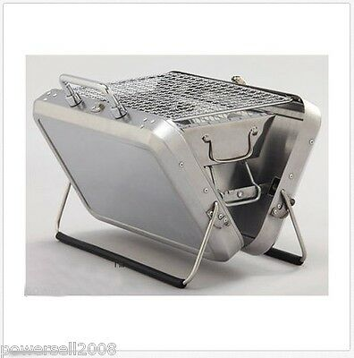 @ New Outdoor Stainless Steel Household Portable Folding Charcoal BBQ Grill