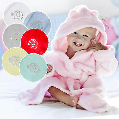 Baby Girls Boys Dressing Gown Fleece Snuggle Robe Hooded Novelty Newborn Gift