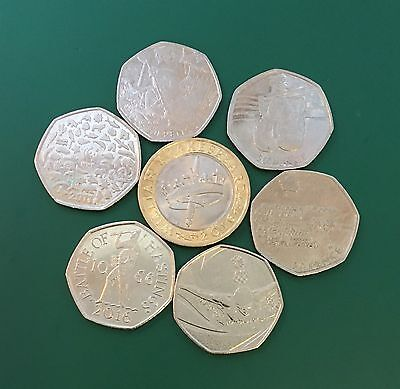 Job lot coins, Shakespeare £2, WWF, Battle of Hastings, Olympics,