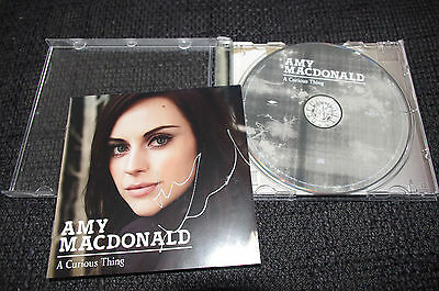"AMY MACDONALD signed signiert Autogramm auf ""A CURIOUS THING"" CD-Cover InPerson"