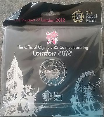 2012 UK £5 Coin London Olympic Games BUnc Presentation Pack New + Sealed