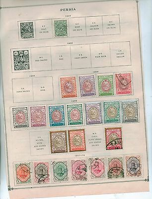 1903 - 1914 Persia Stamps Used   High Catl Value