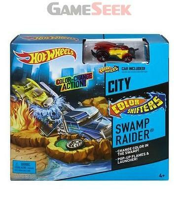 Hot Wheels Toy City Swamp Raider Playset - Car Included - Toys Brand New