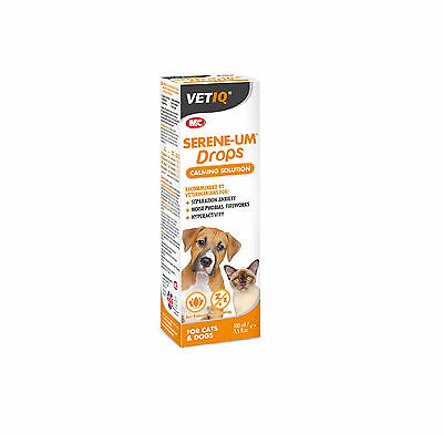 VetIQ Serene-UM Drops for Cats & Dogs - Calms & Soothes Aggression Anxiety Noise