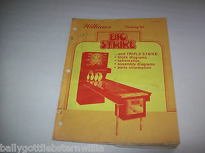 Williams BIG STRIKE DRAWING SET MANUAL NOT COMPLETE.. HAS MANY SCHEMATICS