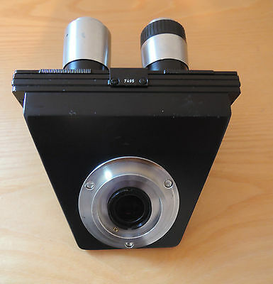 Vintage Microscopic Microscope Head PZO Biolar Warszava, Made in Poland