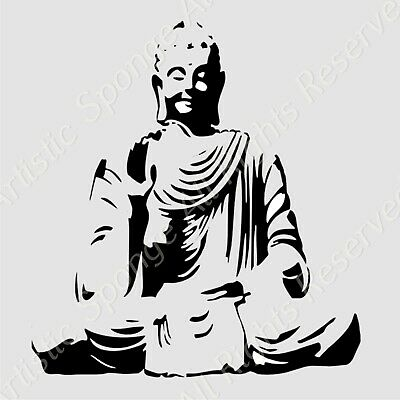 SITTING BUDDHA BUDDA Reusable Stencil A3 A4 A5 ORIENTAL EXOTIC ART Craft DIY N89
