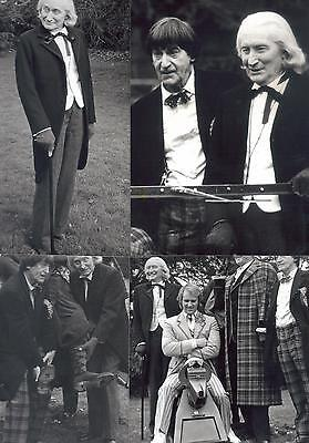 Doctor Who Five Doctors photocall 4 BW photos Hurndall,Troughton,Pertwee,Davison