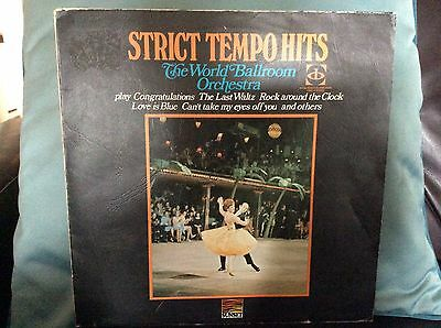 WORLD BALLROOM ORCHESTRA Strict Tempo Hits LP #FREE POSTAGE UK#
