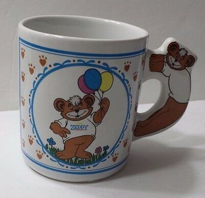 Zeddy Cup Zellars Teddy Bear Mug Vintage Collectible Mascot Rare