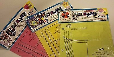 3 Puzzle Mates the Perfect Puzzle Template Scrapbook Heart, Star, &  Beach Set
