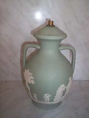 Dudson Brothers 'Jasperware' Pottery-Lamp base.