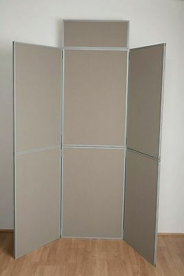 6 Panel folding display boards with Top Stand Header