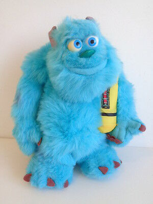 "Disney Monsters Inc - 12"" Glowing Bedtime Sulley-Talking Soft Toy + Scream Stick"