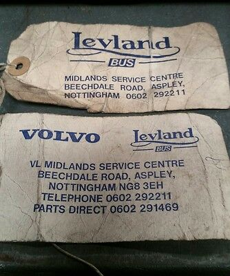 leyland bus label and bag