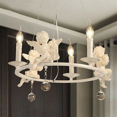 Bedroom Lighting 3 lights lovely  Angel Ceiling Light Pendant Lamp Chandelier