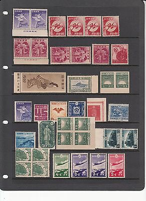 Japan & Area early stamps and blocks mint or used imperf etc