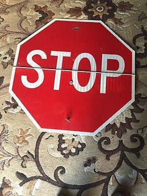 A Construction Folding Stop Sign