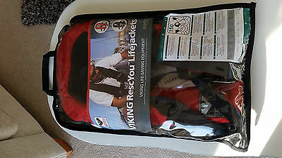 NEW - VIKING FULLY AUTOMATIC 150N GAS INFLATE ADULT LIFE JACKET RescYou