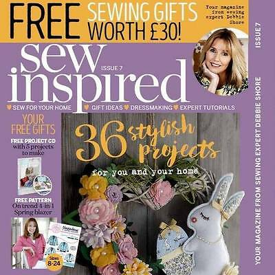 Sew Inspired Magazine Issue 7 + Free Gifts Worth £30 + 36 Stunning Projects