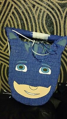 Catboy PJ Masks Pinata with Sweets Birthday Party Stick personalised