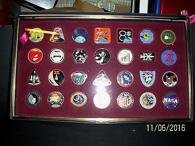 1990's Int. Aerospace Hall Of Fame Cloissone Medallion 28 Pc. Collection