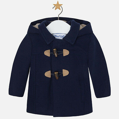 Spanish Designer MAYORAL Bby Boys Duffle Style Coat Navy Blue WAS £40 NOW £22