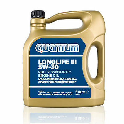Quantum Longlife 3 5W-30 Fully Synthetic Engine Oil 5 Litre Bottle EXPRESS