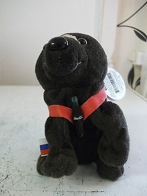 coca cola bean bag soft toy called barris the brown bear from russia.