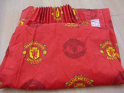 """Manchester United bedroom curtains length 54"""" x 66"""" wide"""