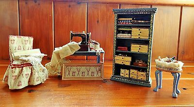 OOAK Artisan Furniture & Accessories for the Dolls House Haberdashery Shop.