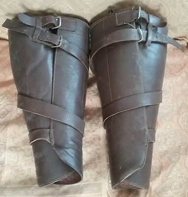 WW1 US Army Cavalry Leather Spats Leggings Military