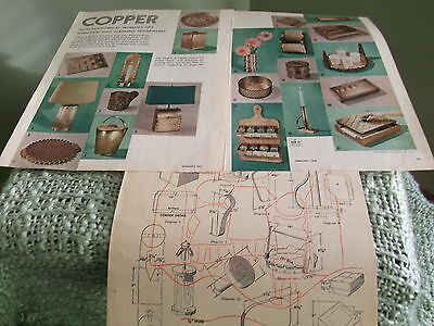 Vintage craft pgs 1948 Woman's Day make Copper Housewares - brief instructions