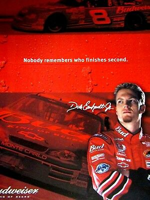 Dale Earnhardt Jr.Nobody Remembers Second 2003 Budweiser Original Print Ad 9x11""