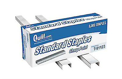 "NEW Lot of 6 Boxes Quill Brand Standard 1/4"" Staples 5000/Box"