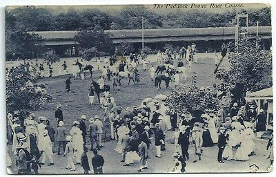 Vintage Postcard. The Paddock, Poona Race Course. Used.  Ref:72410