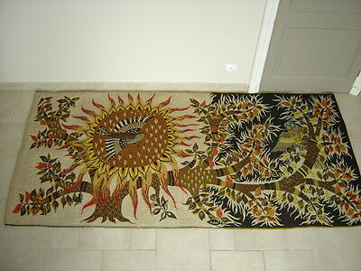 ancienne tapisserie JOUR ET NUIT tapestry MICHELE RAY 1955 aubusson robert four