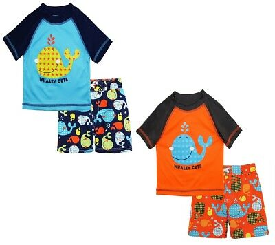 iXtreme Baby Boys Swimwear Cute Whale Board Shorts Swim Trunk Rashguard Set