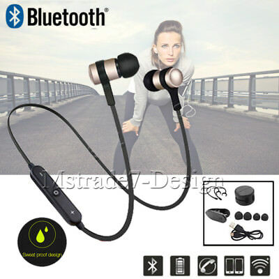 Wireless Bluetooth Neckband Sports MIC In Ear Headset Headphones for iPhone 6 7