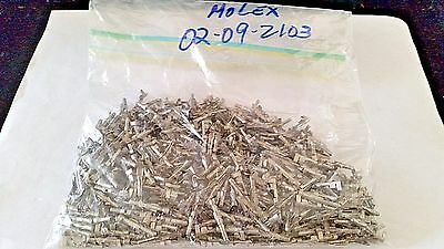 "Waldom Molex 02-09-2103 .093"" Male Crimp Pins 14-20 Awg Bag Of 100Pc"
